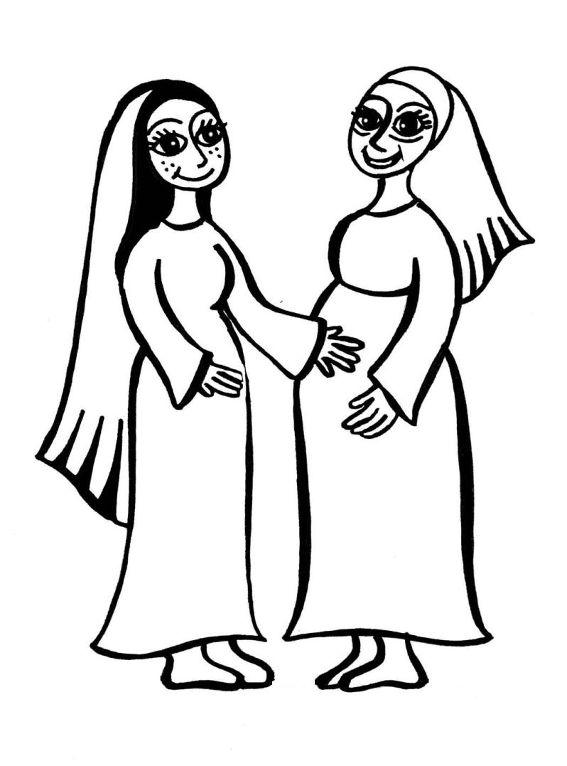 Mary and elizabeth clipart.