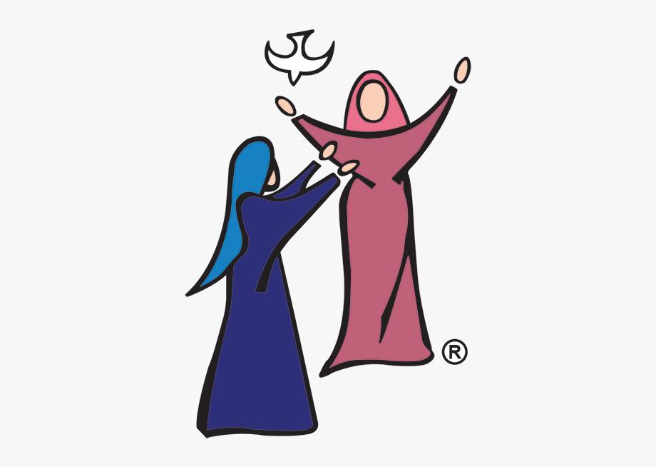 Mary And Elizabeth Clipart , Transparent Cartoon, Free.