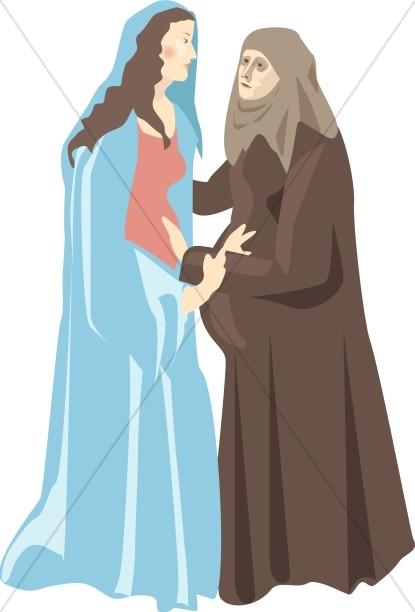 Virgin Mary\'s Visitation to Elizabeth.
