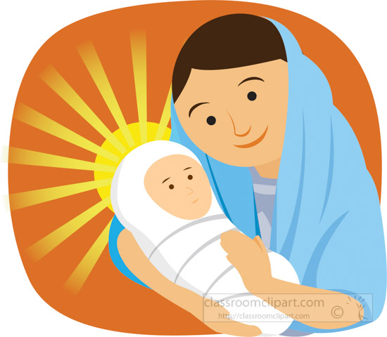 Mary And Baby Jesus Clipart 7.