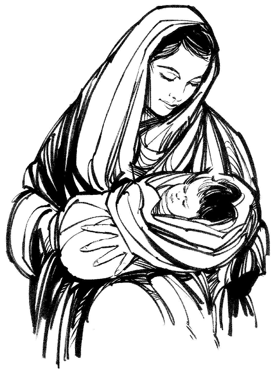 1073x1500 Virgin mary carrying baby jesus jesus clipart.