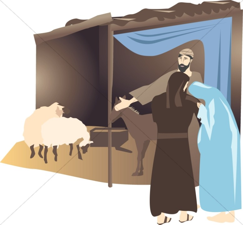 Mary and Joseph at the Stable.