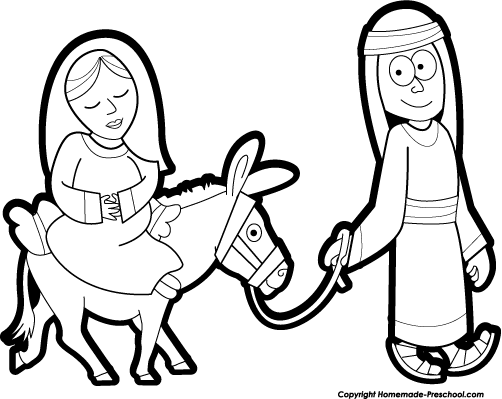 Donkey clipart mary joseph #833 in 2019.