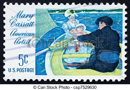 Stock Photography of Postage stamp USA 1966 Mary Cassatt.