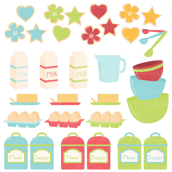 Professional Baking Clipart & Vectors in Fresh by AmandaIlkov.
