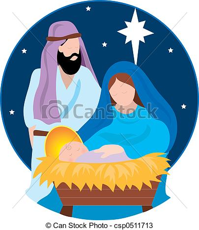 Clipart mary and baby jesus.