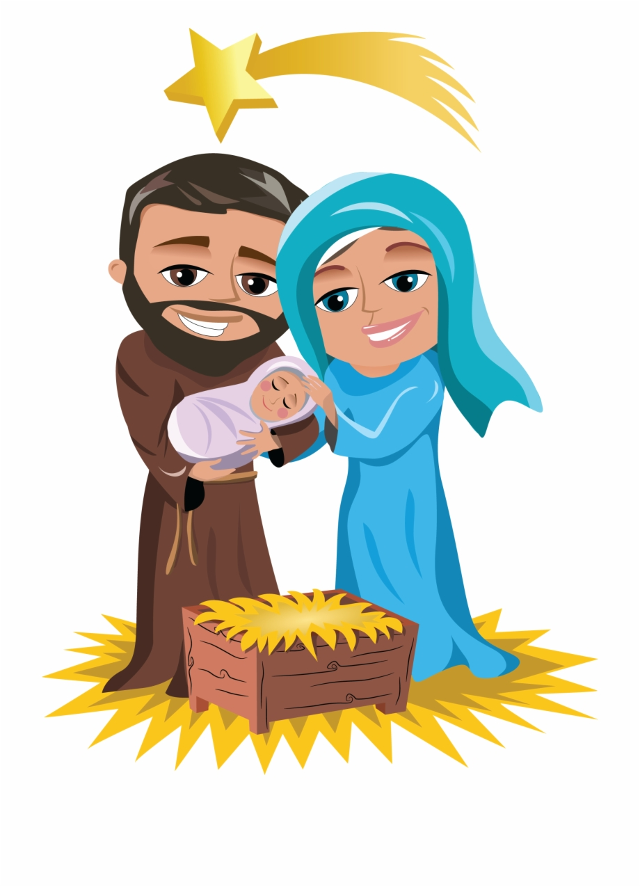 Png Royalty Free Christmas Jesus Clipart Mary Joseph.