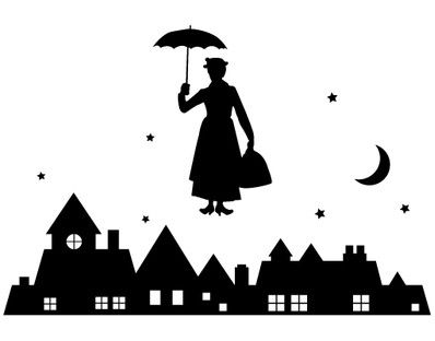 Free Mary Poppins Silhouette, Download Free Clip Art, Free.