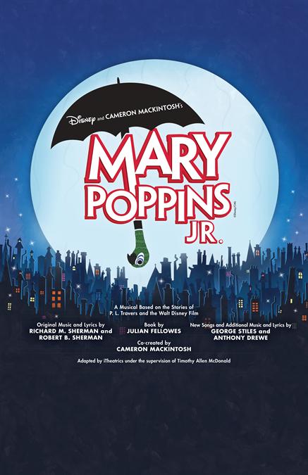 Disney\'s Mary Poppins JR. Customizable Poster + Layered Artwork.