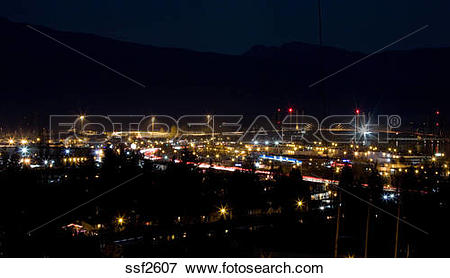 Picture of Night view of Mary Hill Industrial Estate, Mary Hill.