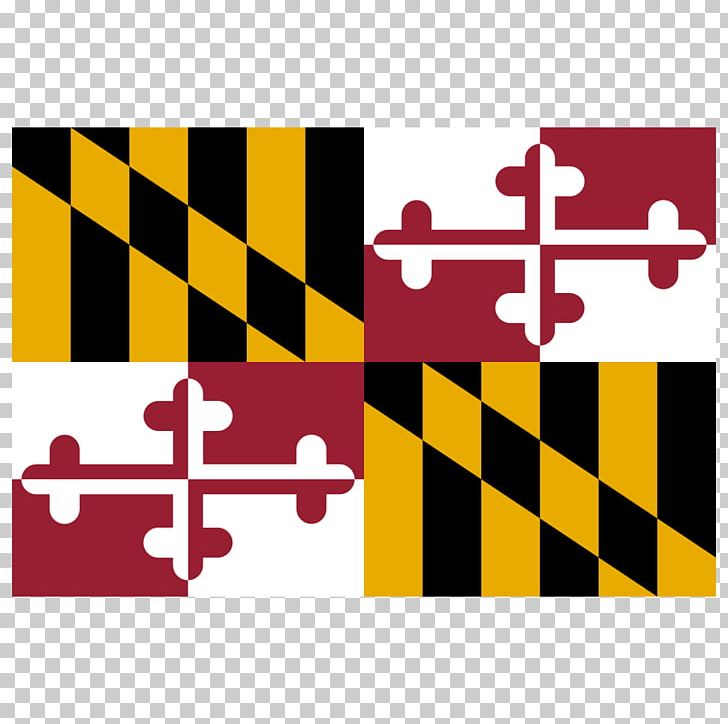Flag Of Maryland State Flag PNG, Clipart, Area, Brand, Decal.