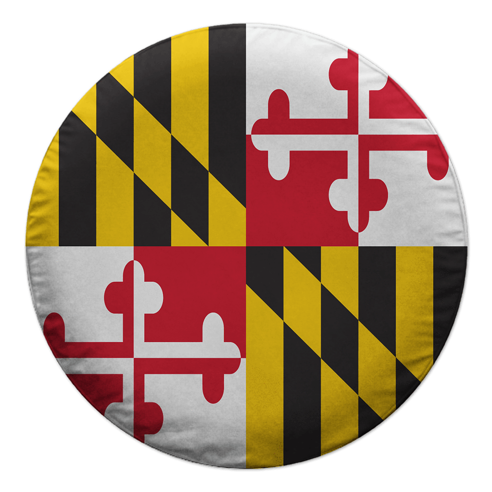 Maryland Flag / Tire Cover.