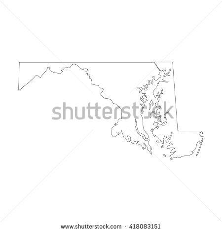 Maryland Outline Vector Stock Photos, Royalty.