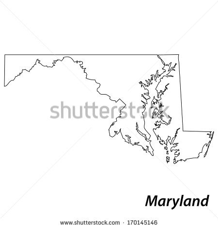 Maryland Outline Stock Images, Royalty.