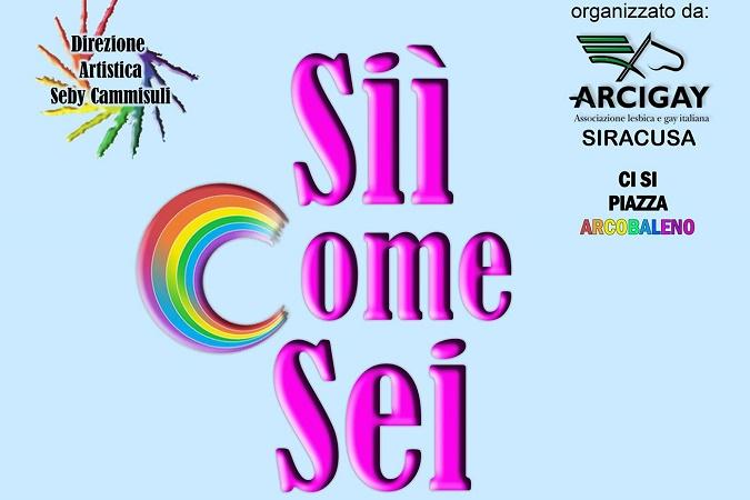 "Pachino, A Marzamemi il week end rainbow ""Sii come sei"": tre."