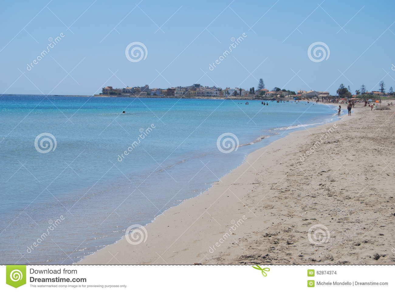 Marzamemi Beach, Sicily, Italy Editorial Stock Image.