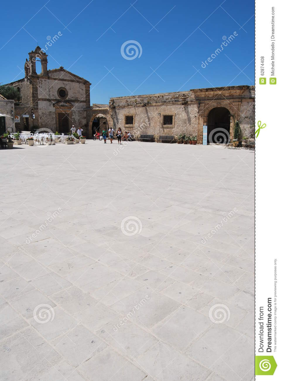 Old Village Of Marzamemi, Sicily, Italy Editorial Stock Photo.