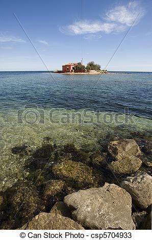 Stock Photos of small island in Marzamemi, Siracusa, Sicily, Italy.