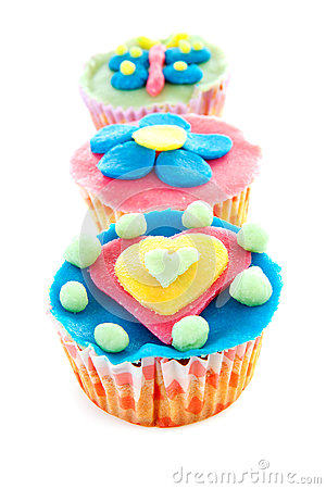 Cupcake Marzipan Decoration Royalty Free Stock Images.