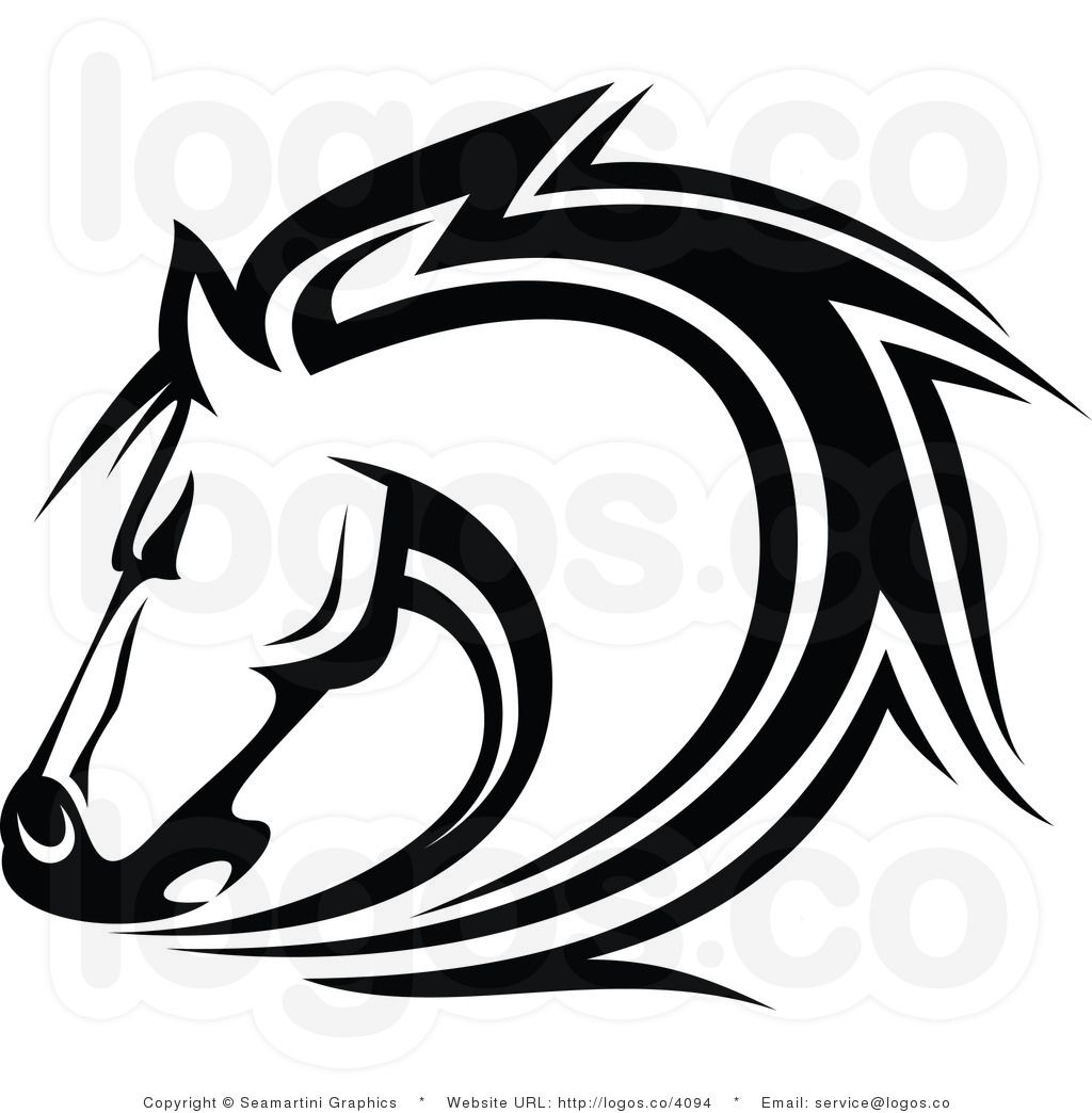 horse logo.