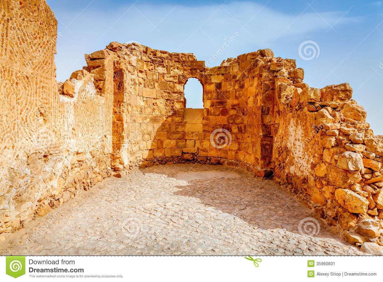 Masada Stock Image.