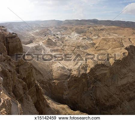 Stock Photograph of Archaeological Site of Masada x15142459.