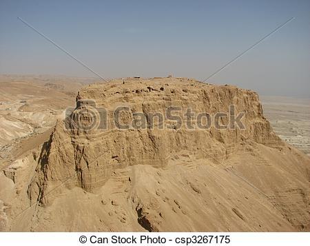 Stock Images of Masada. Judean Desert.