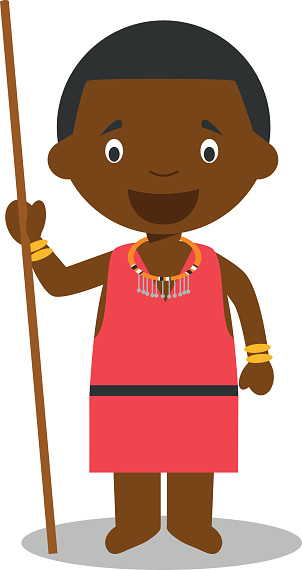 Cartoon Of A African Native Tribes Clip Art, Vector Images.