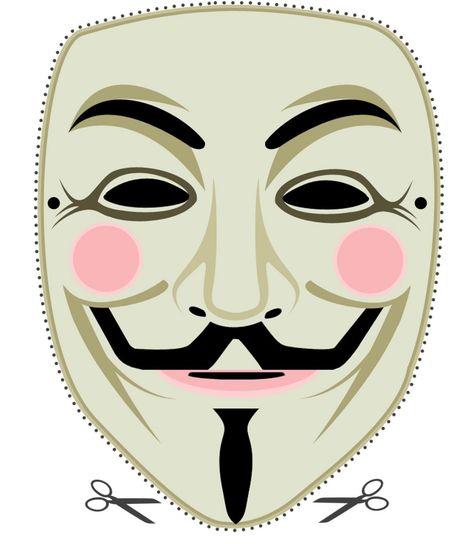 mascara de anonymous clipart #2