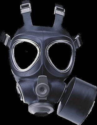 Máscara de Gas PNG transparente.
