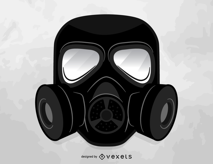 Gas mask vector.