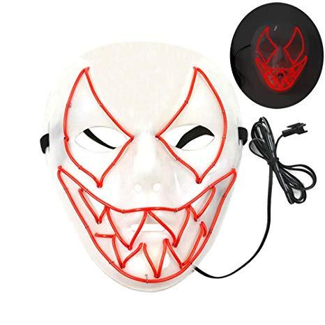 Auplew Máscaras de Fiesta LED, máscara de Alambre de Cosplay.