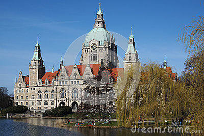 Hannover Sightseeing Tour Bus Editorial Photo.