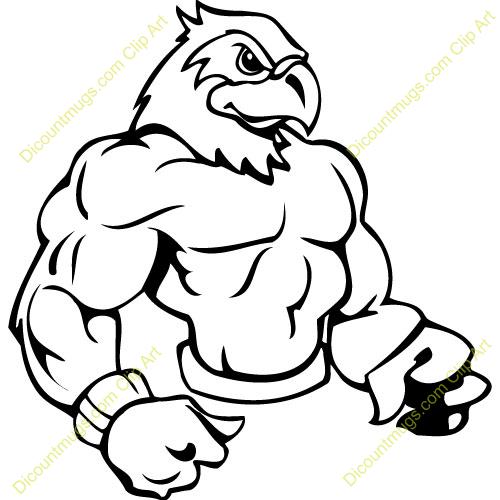 Hawk Mascot Clipart.