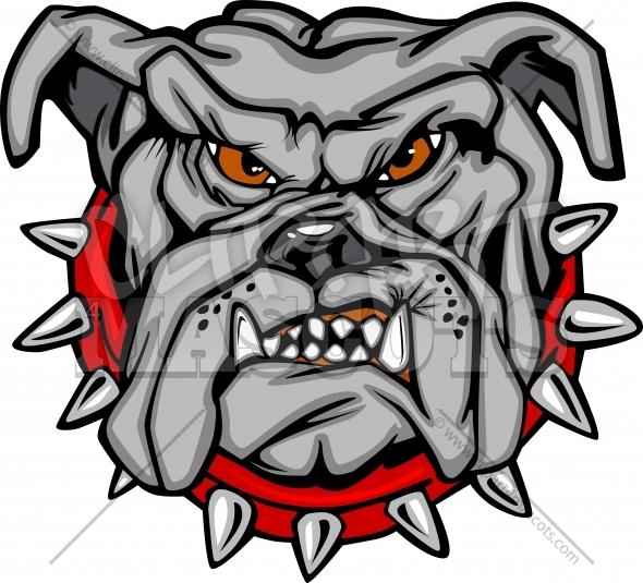 Bulldog Mascot Clipart.