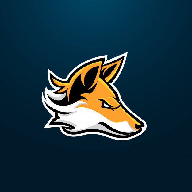 Fox esport gaming mascot logo design Vector.