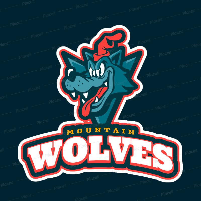 Sports Logo Maker with a Cartoonish Wolf Mascot 1651f.