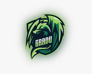 Green Dragon Mascot Logo Designed by ktxdesign22.