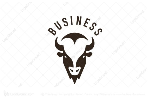 Exclusive Logo 177414, Bison Logo Masculine Logo.