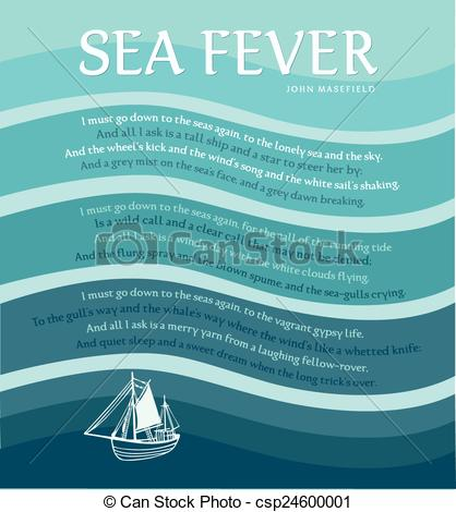 Vector Clipart of Sea Fever.