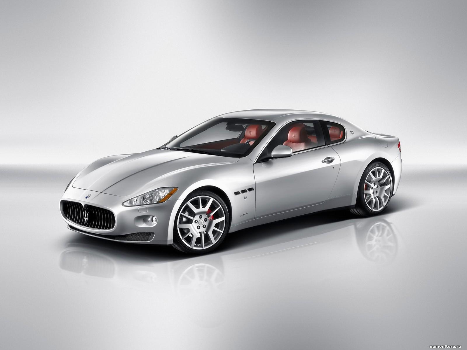 Maserati GranTurismo, best, cars, clipart, grey, Maserati, silvery.
