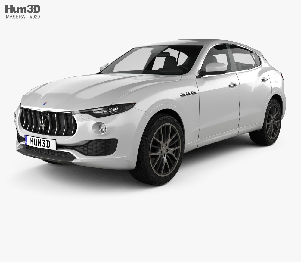 Maserati Levante 2017 3D model.