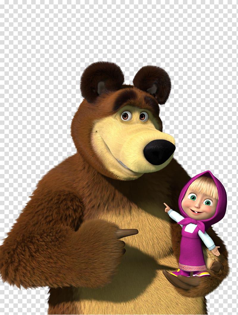 Masha and the Bear Cartoonito Desktop , masha, bear and girl.