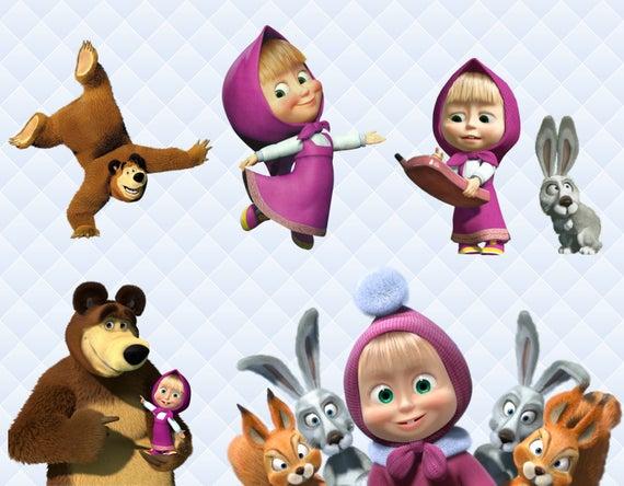 Masha And The Bear Clipart, Masha Bear PNG Characters, Masha.