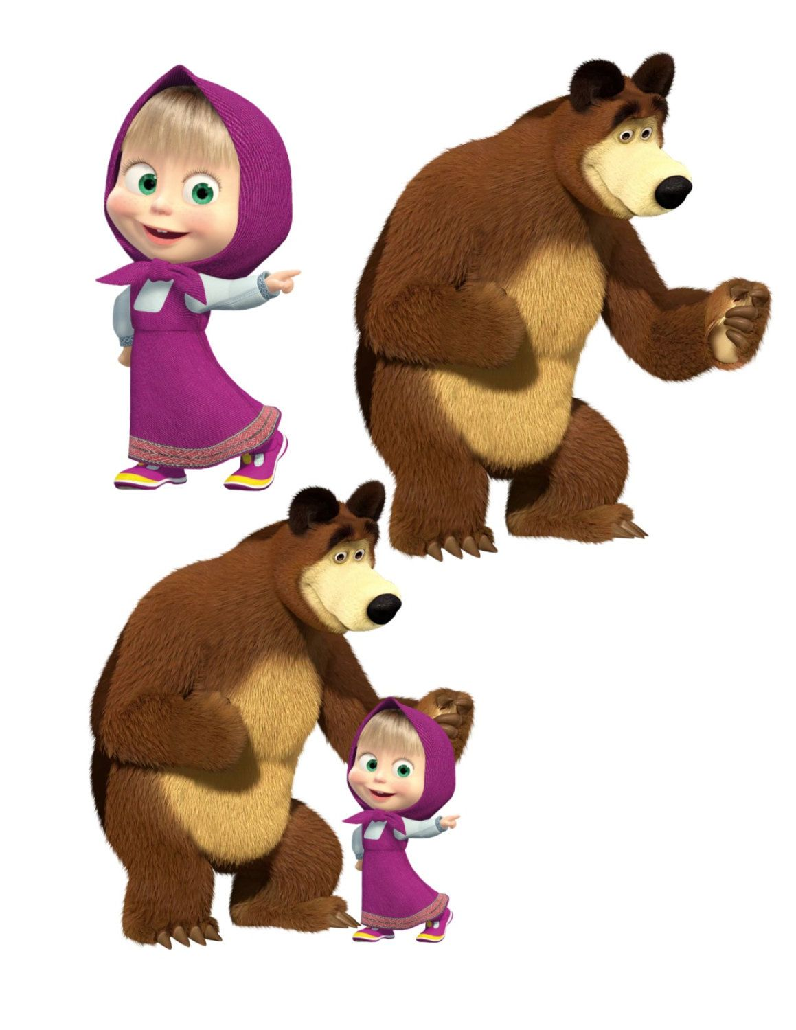Masha Image, Masha Cutout, Masha and the Bear Image, Masha.