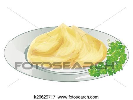 Mash potatoes Clip Art.