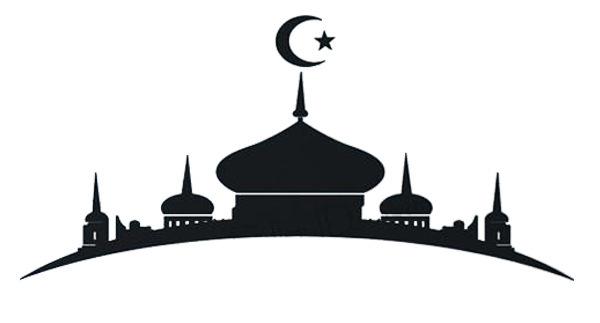 Mosque clipart black and white.