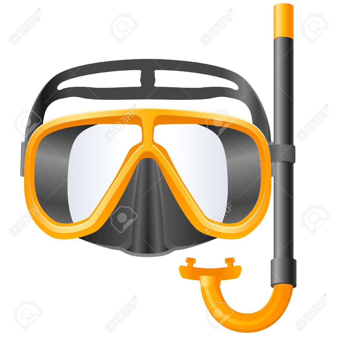 scuba mask and snorkel.