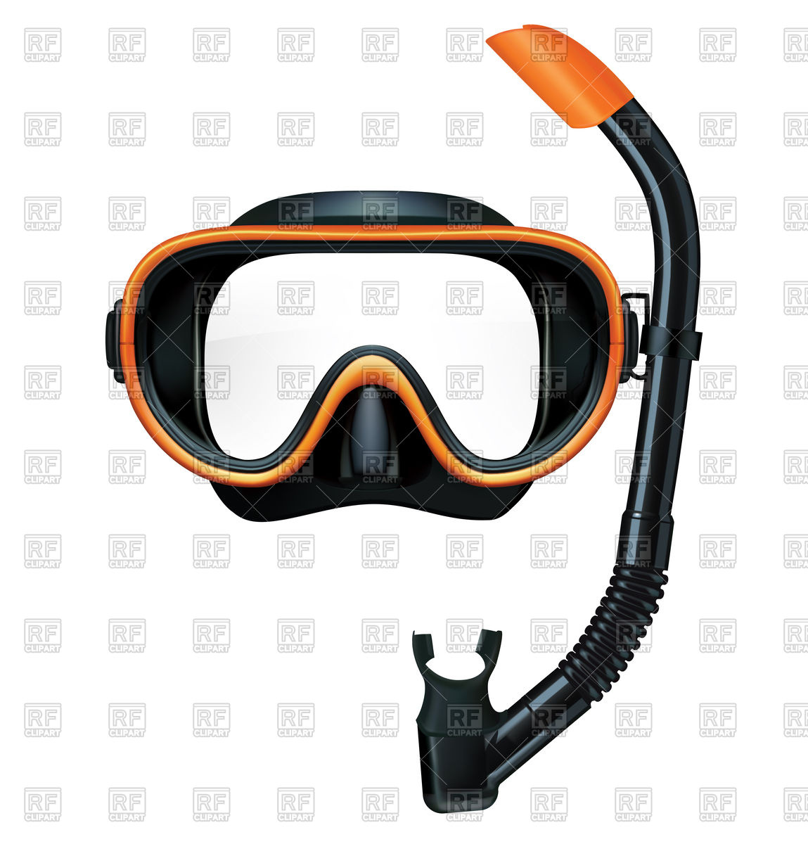 Dive mask and snorkel for professionals. Vector illustration Stock Vector  Image.