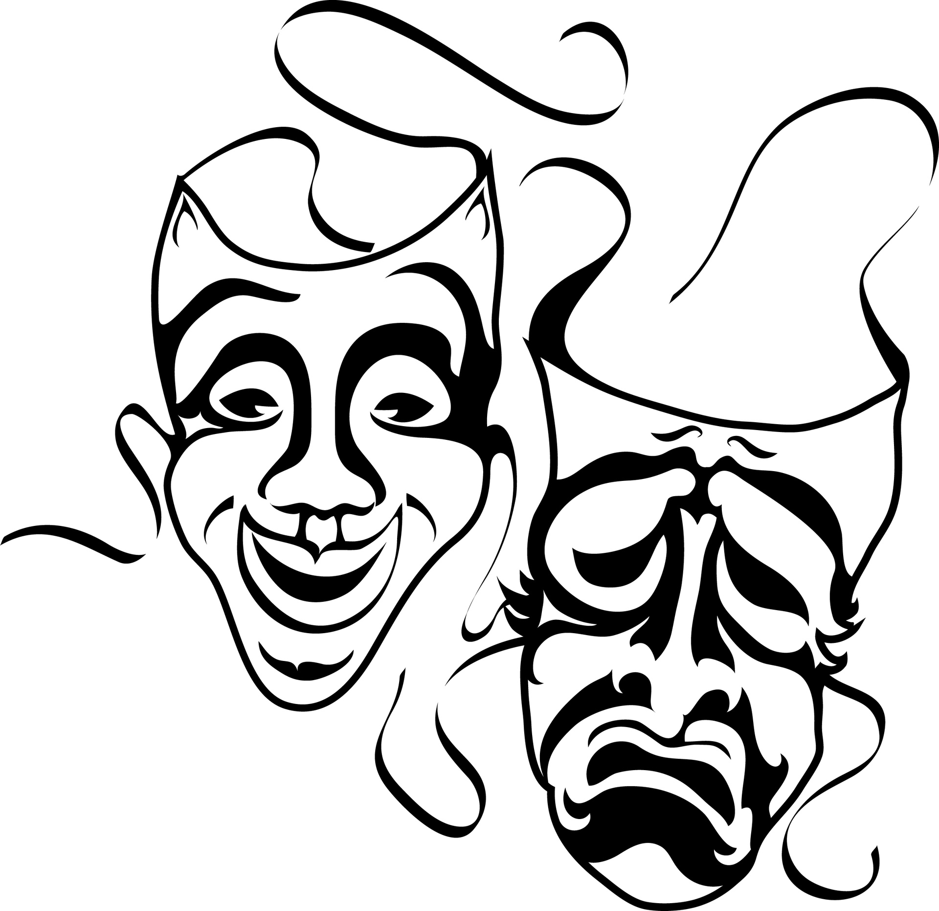Mask clipart black and white 6 » Clipart Station.